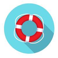 Lifebuoy platt webikon. vektor