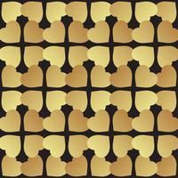 Universalschwarzes und Goldnahtlose Musterfliesen.