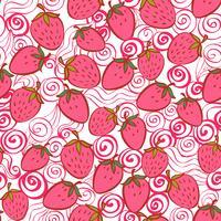 sömlöst mönster med jordgubbe vektor