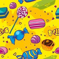 nahtlose Textur von Süßigkeiten vektor