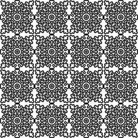 sömlöst mönster med nationella ryska spets svart och vitt.