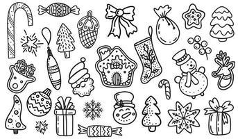 Satz von Weihnachtsgestaltungselement in Doodles style.vector illustration vektor