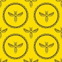 Nahtloses Muster mit Biene