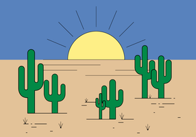 freier Kaktusvektor vektor