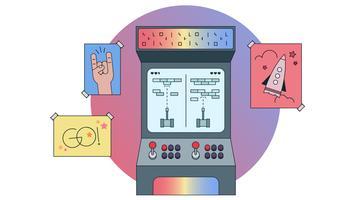 Arcade-Vektor vektor