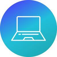 Vektor-Laptop-Symbol vektor