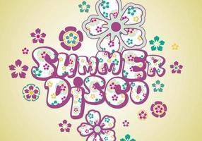 Sommar disco vektor pack