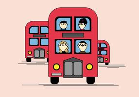 Kostenloser Bus-Vektor vektor