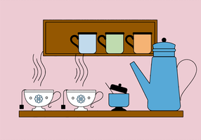 Kostenlose Teetasse Vektor