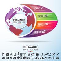 Weltkarte Infografiken Designvorlage