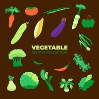 Vektorsammlung von verschiedenem Gemüse für Vegetarier vektor