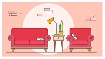 vardagsrum design vektor
