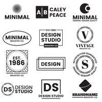 Minimal vektorlogo för banner