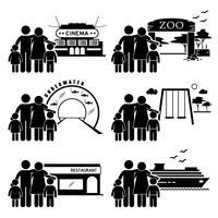 Aktivitäten für Familienausflüge.