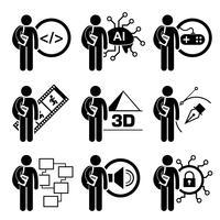 Studerande i informationsteknologi. vektor