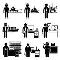Hög inkomst yrkesjobb yrken karriärer. vektor