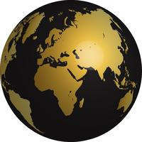 Världens guld vektor