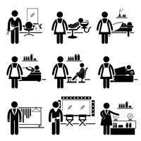 Schönheitssalon Dienstleistungen Jobs Berufe Karriere. vektor