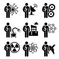 Civilingenjörsexamen - Elektroteknik, Mekanisk, Telekommunikation, Robotisk, Civil, Nanoteknik, Kärnteknik, Kemi, Flygteknik vektor