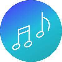 Vektor-Musik-Symbol vektor