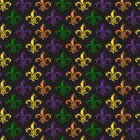 Mardi Gras Carnival sömlöst mönster med fleur-de-lis. Mardi Gras ändlös bakgrund, konsistens, omslag. Vektor.