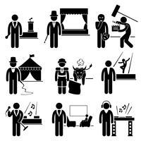 Entertainment Artist Jobs Berufe Karriere. vektor