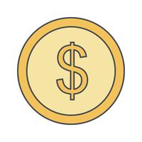 Münzen-Vektor-Symbol