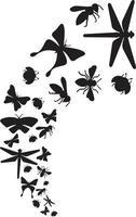 fliegende Insekten-Symbol vektor