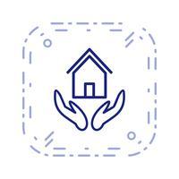 Versicherungs-Vektor-Symbol