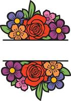floraler Monogrammrahmen vektor