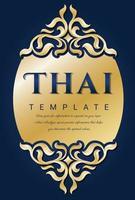 Vintage-Vektor, traditionelles thailändisches Konzept. florale Elemente vektor