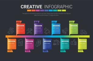 Infografik-Designvorlage mit 9 Optionen vektor