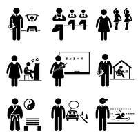 Trainer Instructor Trainer Lehrer Jobs Berufe Karriere. vektor