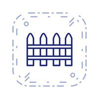 Zaun-Vektor-Symbol vektor