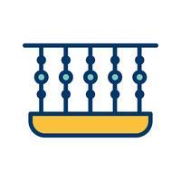 Balkon-Vektor-Symbol vektor