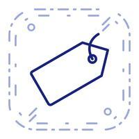 Vektor-Tag-Symbol