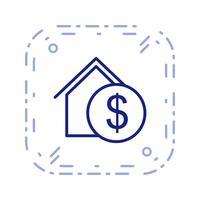 fastighets vektor ikon