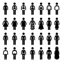 Frauenkleidungs-Kleidungs-Art-Art-Design. vektor