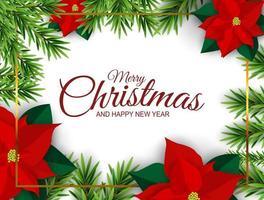 Urlaub Neujahr und Frohe Weihnachten Hintergrund. Vektor-Illustration vektor