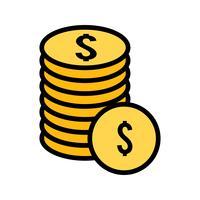 Vektor-Münzen-Symbol
