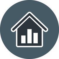 Immobilienstatistik-Vektor-Ikone