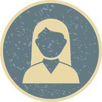 Vektor kvinnlig student ikon