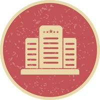 Hotel-Vektor-Ikone mit fünf Sternen