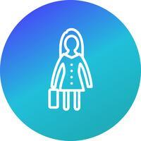 Kvinnor med portfölj vektor ikon
