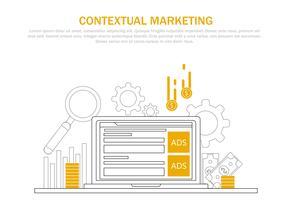 Kontextuell marknadsföring banner vektor