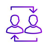 Austausch-Vektor-Symbol vektor