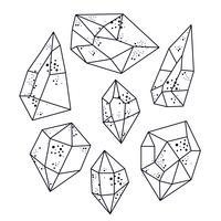 Magische Kristalle in Pyramidenform.