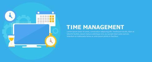 Zeitmanagement-Banner vektor