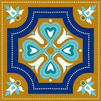 Portugisiska azulejoplattor. Blå och vit underbar sömlös patte.