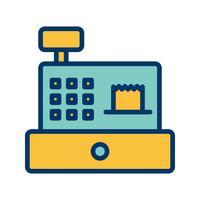 vektor kontanter räknare ikon